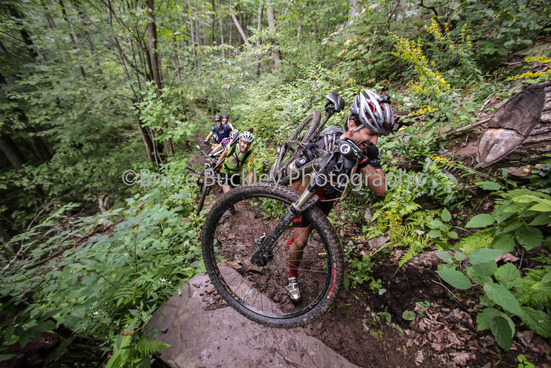 The steep climb from the Mountain House Picnic Area toward Braley Pond was extremely slick, especially after a hard rain.