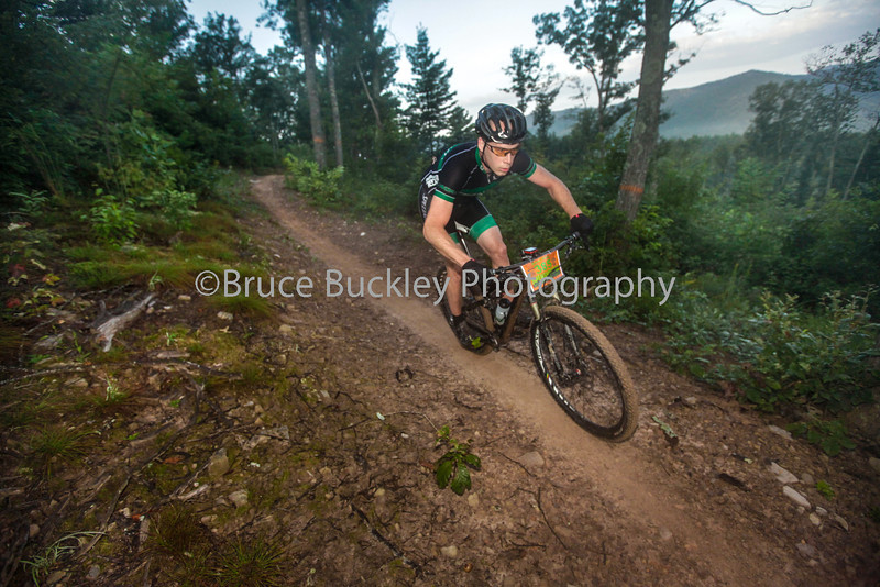 For the 15th edition of the Shenandoah Mountain 100, racers were treated to a new downhill section of trail following the initial climb up Narrow Back Mountain. Through the morning haze, riders could glimpse some of the major climbs that awaited them.