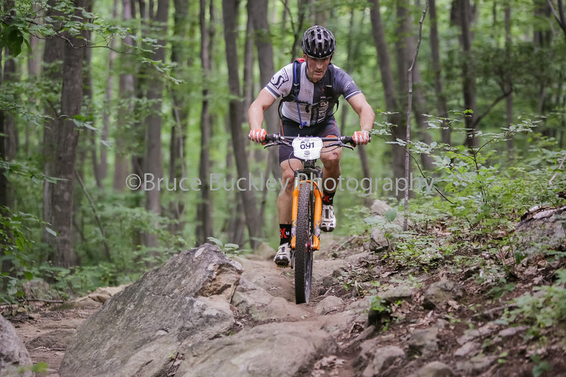 The amateur classes rode an additional rocky section on the lower portions of the Bear Creek trail system that was not included in the pro classes.