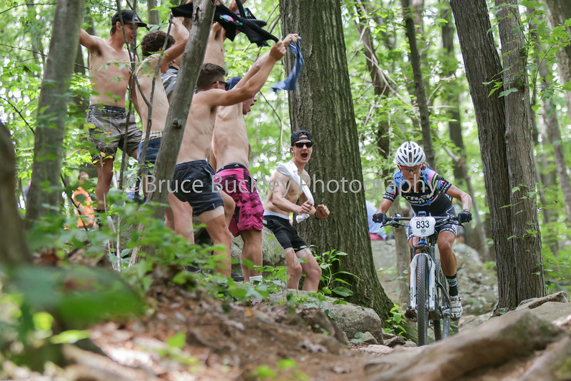 Julia Violich earn some shirt-waving cheers on her way to a silver medal in the Women's Cat 1 45-49 race.