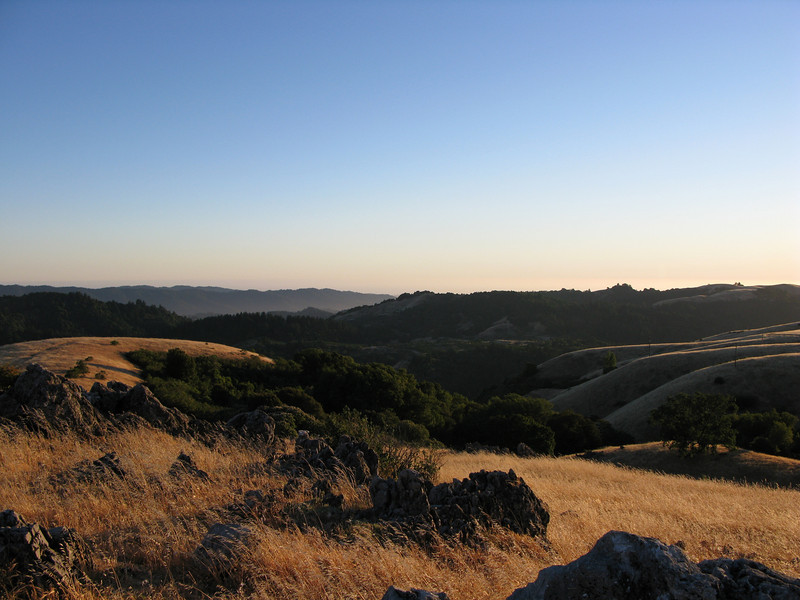 View south above Backpackers Camp<br /> Russian Ridge<br /> June 17, 2008