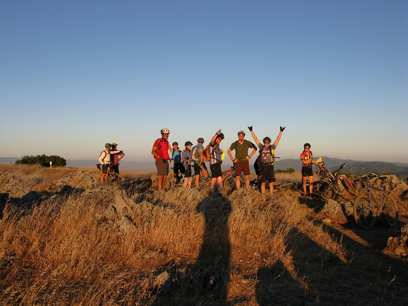 The smaller group atop Backpackers<br /> Russian Ridge<br /> June 17, 2008
