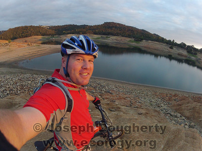 © Joseph Dougherty. All rights reserved.  Mountain biking at Folsom Lake when levels are very low.