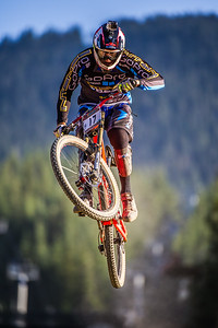 Bernat Guardia of Spain competes in the Garbanzo DH held at Whistler, British Columbia, Canada during Crankworx 2013, on August 13th, 2013. Photo by: Stephen Hindley/SPORTDXB ©