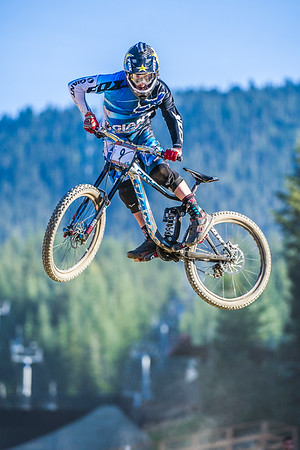 Danny Hart of Great Britain, competes in the Garbanzo DH held at Whistler, British Columbia, Canada during Crankworx 2013, on August 13th, 2013. Photo by: Stephen Hindley/SPORTDXB ©