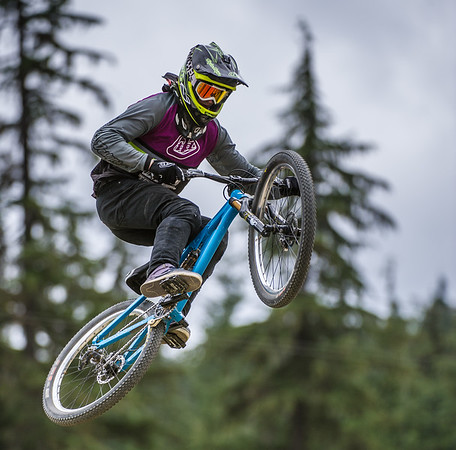 Riders compete in the Teva Best Trick Showdown at Crankworx 2013, held at Whistler, BC, Canada on Thursday 15th August, 2013. Photo by: Stephen Hindley ©