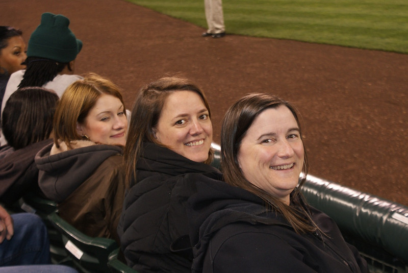 3 DHLT gals having fun at the game, in WONDERFUL SEATS!!!