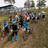 Record-Eagle/Keith King<br /> Competitors wait for the start of their division during the Mud, Sweat and Beers mountain bike races Saturday, May 7, 2011 at the Mt. Holiday Ski and Recreation Area.