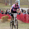 Record-Eagle/Keith King<br /> Angela Miller finishes first in the Pale Ale Sport womens division of the the Mud, Sweat and Beers mountain bike races Saturday, May 7, 2011 at the Mt. Holiday Ski and Recreation Area.