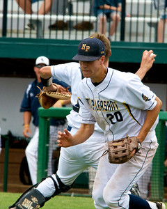 Mt. Pleasant Oilers earned a 7-1 win over Richland Gull Lake in the MHSAA Division 2 Baseball Semi-finals at Michigan State University Kobs Field Thursday, June 12, 2014.