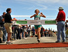 Brandy Erholtz, of Bailey, Colorado, successfully defends her title, as she wins the 49th Mount Washington Road Race, with a time of 1:10:53. Ms. Erholtz bested her winning time of last year by 15 seconds.