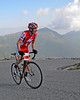 Ned Overend, of Durango, Colorado, rounds a sharp curve, during The 39th Annual Mt. Washington Auto Road Bicycle Hillclimb, which was held on August 20st, 2011, in Gorham, New Hampshire. Cyclists raced up the grueling 7.6 mile Auto Road course, to the 6,288' summit of Mt. Washington, the highest peak in the Northeastern United States. Mr. Overend, celebrated his 56th birthday by going on to win the race, with a time of 55.03.