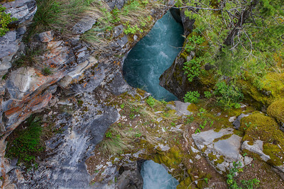 Looking down on the Natural Bridge.
