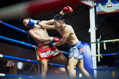 Muay Thai Boxing at Thaphae Stadium