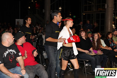 Hannah Kampf, operations manager at Axtion Club of Seattle, makes her debut in the ring.