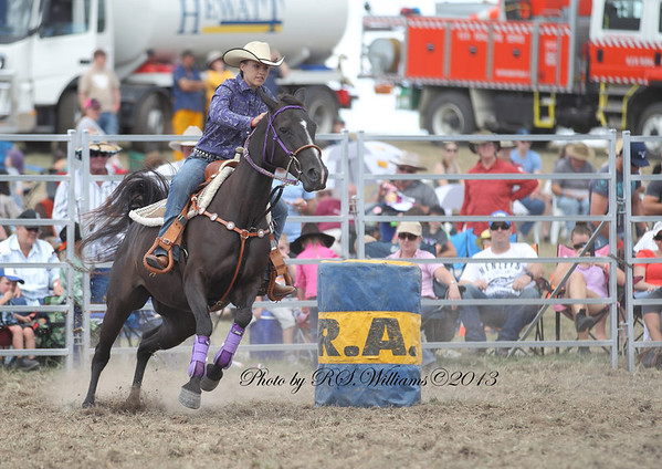 Probably Stephanie Shaw at her first Murrumbateman Rodeo.