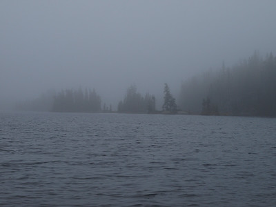 More Kelso Lake in mist.