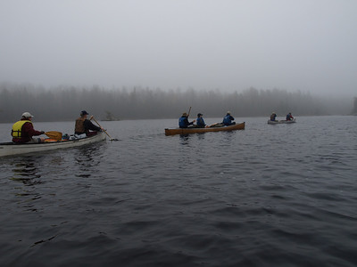 Adventure never stops.  These canoers paddled in under the cover of darkness.  Now it's time to paddle back.