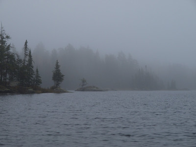 Which is it bad weather or spectacular weather?  Kelso Lake at some fine fog.