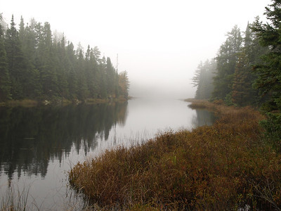More Oriole Lake in fog - on the way to top of Kelso Mountain.