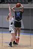 #25 N. Crowley forward Maiyah Watkins takes the jumpshot over the defensive stance of #34 Keller forward Ava Dunagan