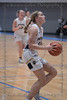 #11 Keller guard Renee Chmiel on her way to the basket for a lay up.