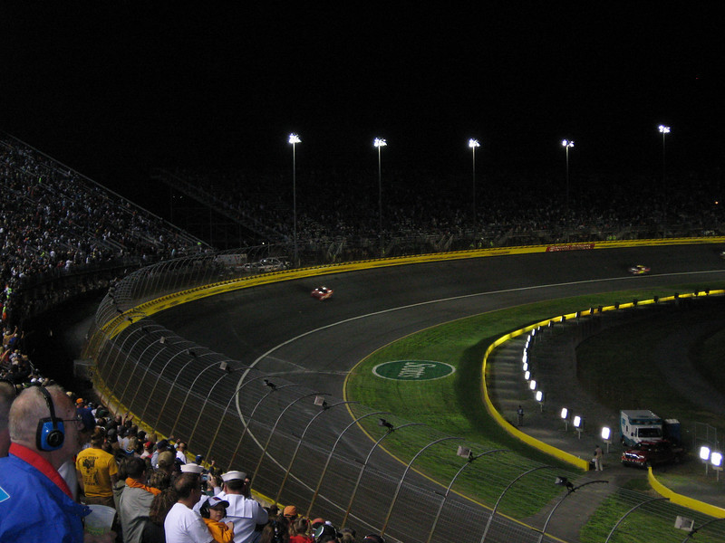 Kasey in the lead on the last lap.