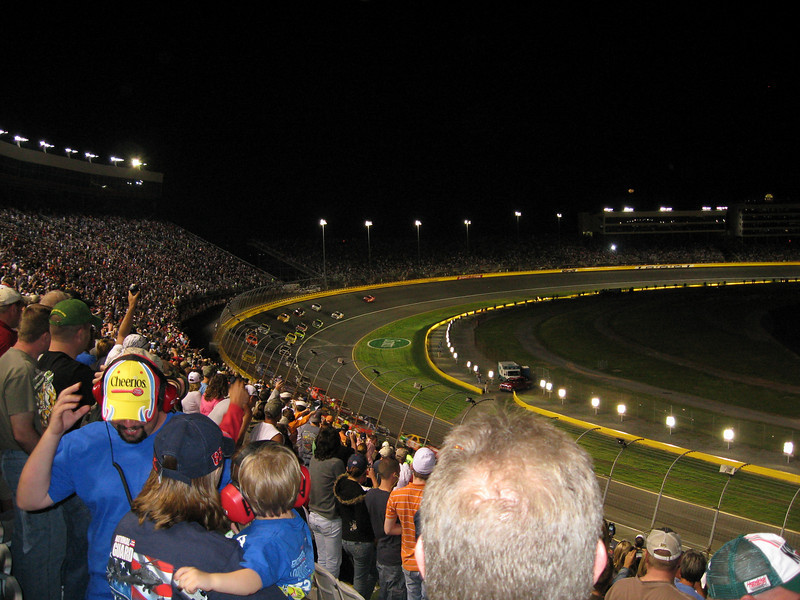 The All-Star race under the lights.