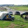 Camping with a view of the infield tunnel road and the track heliport.  And the landfill was just down the road to the right.