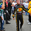 The NASCAR Nationwide Series came to New Hampshire Motor Speedway in Loudon, NH, with the New England 200, on June 26th, 2010. Driver Austin Dillon makes his way toward his car, after being introduced to the audience.
