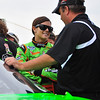 The NASCAR Nationwide Series came to New Hampshire Motor Speedway in Loudon, NH, with the New England 200, on June 26th, 2010. Driver Danica Patrick and Crew Chief Tony Urey Jr. talk prior to the start of the race.