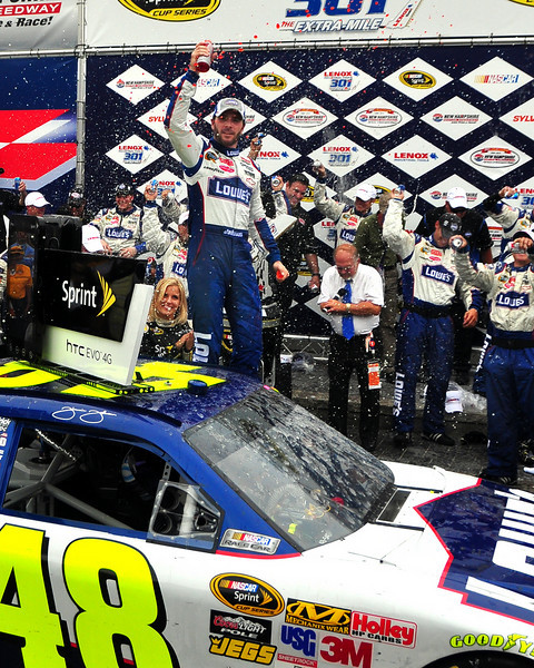 The NASCAR Sprint Cup Series came to New Hampshire Motor Speedway, in Loudon, on June 27th, 2010, for The Lennox Industrial Tools 301. Jimmie Johnson took the checkered flag after exchanging bump and run's with Kurt Busch.