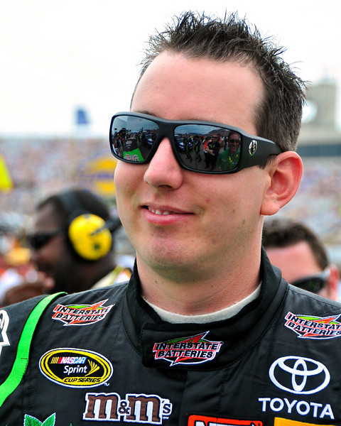 Kyle Busch, driver of the #18 Interstate Batteries/Joe Gibbs Racing Toyota, enjoyed some friendly banter, prior to the NASCAR Sprint Cup Series, Lennox Industrial Tools 301 race, on June 27th, 2010, at New Hampshire Motor Speedway, in Loudon, NH.