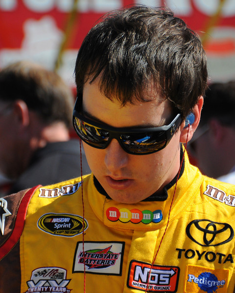 NASCAR Sprint Cup Series driver, Kyle Busch, prepares to compete in The Sylvania 300, at New Hampshire Motor Speedway, in Loudon, NH. on September 25th, 2011.