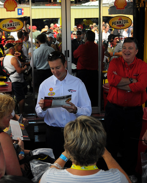 NASCAR Sprint Cup Series driver, Kurt Busch, signs autographs prior to The Sylvania 300, at New Hampshire Motor Speedway, in Loudon, NH. on September 25th, 2011.