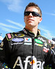 NASCAR Sprint Cup Series driver, Carl Edwards, surveys the crowd prior to the start of The Sylvania 300, at New Hampshire Motor Speedway, in Loudon, NH. on September 25th, 2011.