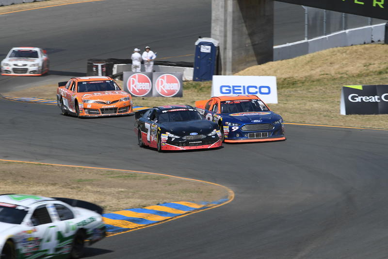 #7 Will Rodgers and #9 Michael Self at 2017 Carneros 200