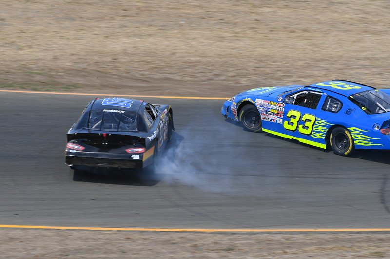 #40 Ron Norman and #33 Nicole Behar at 2017 Carneros 200