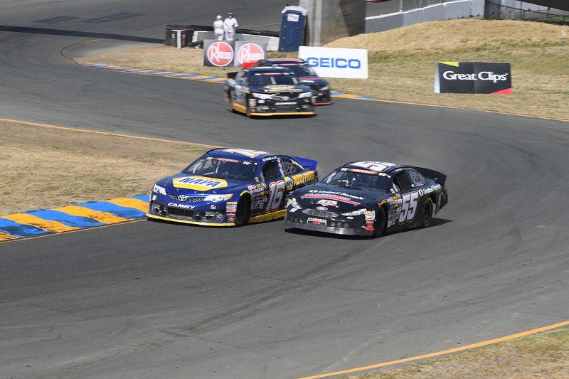 #16 Todd Gilliland and #55 Sheldon Creed at 2017 Carneros 200