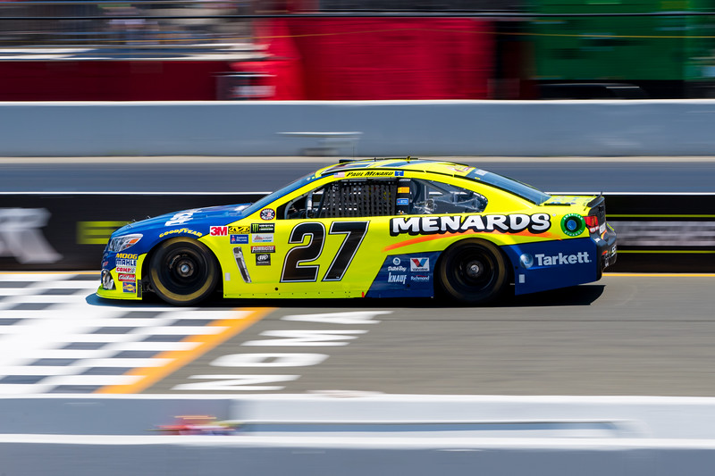 #27 Paul Menard, at 2017 Toyota/Save Mart 350 Qualifying