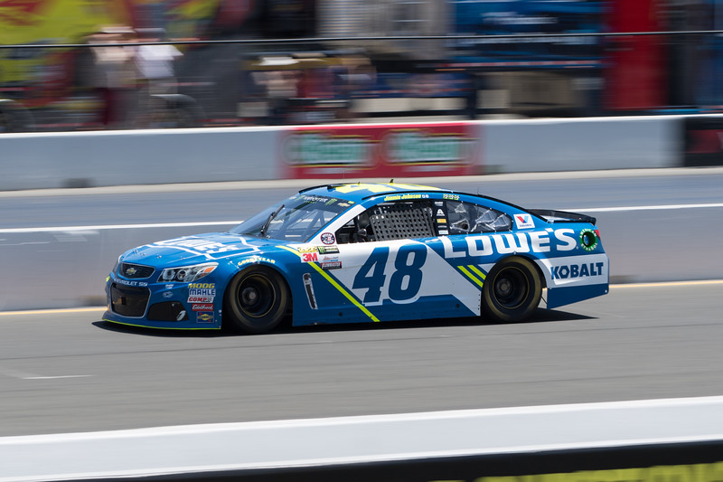 #48 Jimmie Johnson at 2017 Toyota/Save Mart 350 Qualifying