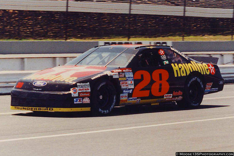 Pocono, July 1992 - Davey Allison in the Robert Yates Racing #28 Havoline Thunderbird on pit road.