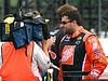 Tony Stewart being interviewed prior to qualifying for the July race at Pocono.