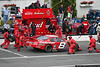 The Budweiser crew services Dale Earnhardt Jr. during the July race.