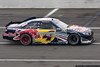 Kasey Kahne's Red Bull Toyota shows the results of an encounter with Juan Pablo Montoya and the Long Pond Straight wall.
