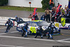 Jimmie Johnson comes to the attention of his pit crew.
