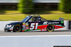 """The 51 truck, driven by Chad Hackenbracht, sports the name """"Chad Hocken-something"""" over the door!"""