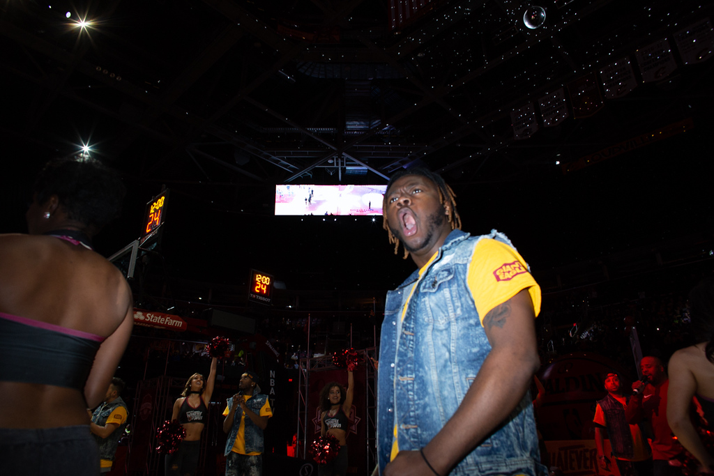 . Michael Johnson - The News-Herald A scene from the Eastern Conference Finals watch party at the Quicken Loans Arena on May 13, 2018.