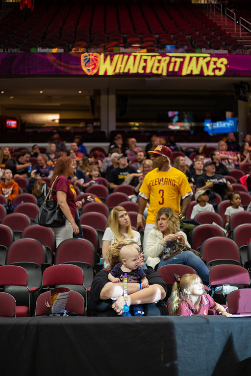 . Michael Johnson - The News-Herald Fans settle into the Q for game 1 of the Eastern Conference Finals during a watch party on May 13, 2018.