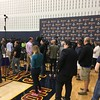 Reporters waiting for LeBron James q&a to begin, shootaround